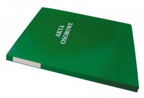 Teczka do akt osobowych Warta, A4, z bindą wewnętrzną, niezadrukowana, ABCD, zielony