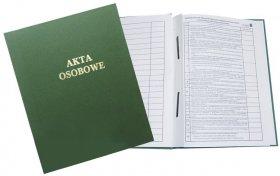 Teczka do akt osobowych Warta, A4, klejona, zadrukowana, ABCD, zielony