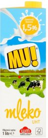 Mleko UHT Wart-Milk  MU!, 1,5%, 1l