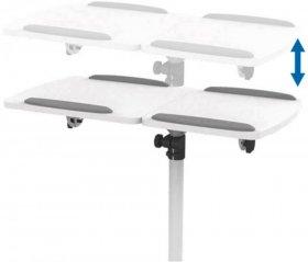 Stolik projekcyjny na kółkach LogiLink, 70x538.x70-110cm, biały