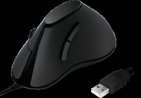 Mysz przewodowa LogiLink ID0158, pionowa, optyczna, czarny