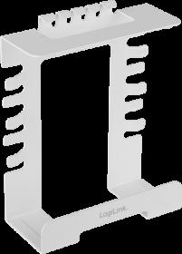 Organizer do kabli LogiLink, 140x180x63mm, montowany do biurka, biały