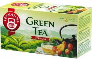 Herbata zielona smakowa w kopertach Teekane Green Tea Opuncia, opuncja, 20 sztuk x 1.75g