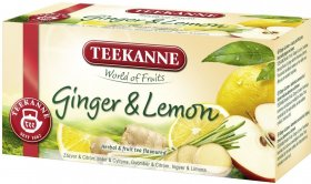Herbata owocowa w kopertach Teekanne Ginger&Lemon, imbir i cytryna, 20 sztuk x 1.75g