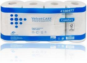 Papier toaletowy Velvet Care Professional, 2-warstwowy, 27.5m, 8 rolek, biały