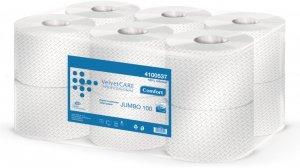 Papier toaletowy Velvet Care Professional Jumbo 100, 2-warstwowy, 100m, 12 rolek, biały
