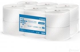Papier toaletowy Velvet Care Professional Jumbo 140, 2-warstwowy, 140m, 12 rolek, biały