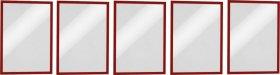 Ramka magnetyczna Durable Magnetic, A4, 5 sztuk, czerwony