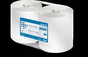 Czyściwo papierowe Velvet Care Professional 200, 2-warstwowe, przemysłowe, 200m, 2 rolki, biały
