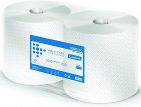 Czyściwo papierowe Velvet Care Professional 250, 2-warstwowe, przemysłowe, 250m, 2 rolki, biały