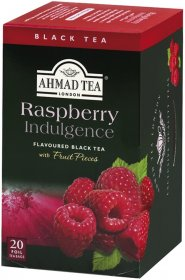 Herbata czarna aromatyzowana w kopertach Ahmad Tea Raspberry, malina, 20 sztuk x 2g