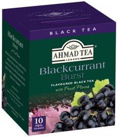 Herbata czarna aromatyzowana w kopertach Ahmad Tea Blackcurrant Burst Tea, czarna porzeczka, 10 sztuk x 2g