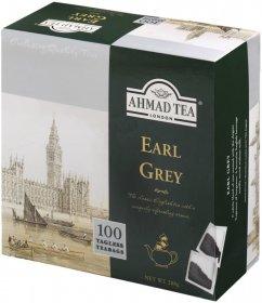 Herbata Earl Grey czarna w torebkach Ahmad Tea London, 100sztuk x 2g