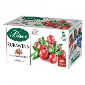 Herbata owocowa w torebkach Bifix Classic, żurawina, 20 sztuk x 2.5g