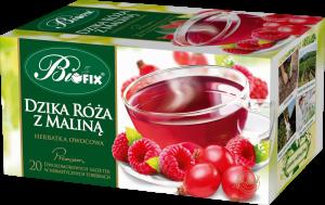 Herbata owocowa w kopertach Bifix Premium, dzika róża z maliną, 20 sztuk x 2g