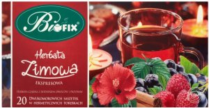 Herbata czarna aromatyzowana w kopertach Bifix Zimowa, 20 sztuk x 2g