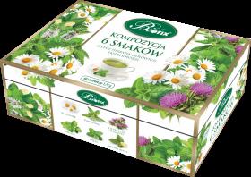 Zestaw herbat w kopertach Bifix, 6 smaków, 60 sztuk x 1.75g