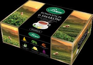 Zestaw herbat w kopertach Bifix, Kompozycja 6 herbat czarnych,  6 smaków, 60 sztuk x 2g