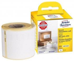 Etykiety wysyłkowe Avery Zweckform, w rolce, 220 etykiet/1 rolka, 101x54mm, biały