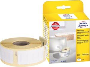 Etykiety adresowe Avery Zweckform, w rolce do drukarek termicznych Dymo TM, 500 etykiet/1 rolka, 25x54mm, biały