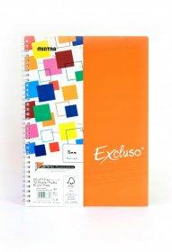 Kołonotatnik Mintra Excluso Double Wire, A4, w kratkę, 72 kartki, pomarańczowy