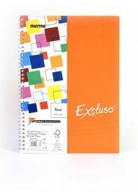 Kołonotatnik Mintra Excluso Double Wire, A4, w linie, 72 kartki, pomarańczowy