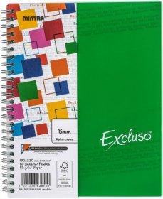Kołonotatnik Mintra Excluso Double Wire, A4, w linie, 72 kartki, zielony