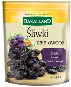 Śliwki suszone całe owoce Bakalland, 200g