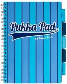 Kołonotatnik Pukka Pad Project Book Vogue, A4, w kratkę, 200 kartek, niebieski