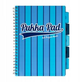 Kołonotatnik Pukka Pad Project Book Vogue, B5, w kratkę, 200 kartek, niebieski