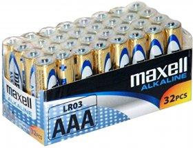 Bateria alkaliczna Maxell, AAA, 32 sztuki