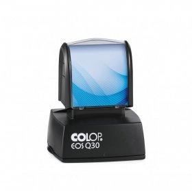 Pieczątka flashowa Colop Q30, kwadratowa, obudowa czarna, wkład czarny