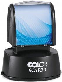 Pieczątka flashowa Colop R30, okrągła, obudowa czarna, wkład czarny