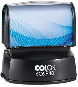 Pieczątka flashowa Colop R40, okrągła, obudowa czarna, wkład czarny