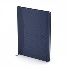 Notatnik w kratkę Oxford Signature, A5, twarda oprawa, 80 kartek, niebieski