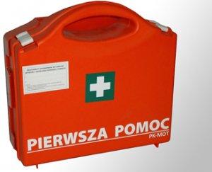 Apteczka pierwszej pomocy PK MOT P-10, 270x270x95 mm, z wyposażeniem, pomarańczowy