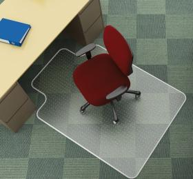 Mata podłogowa pod krzesło Q-Connect, 134x115cm, litera T, miękka, przezroczysty