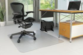 Mata podłogowa pod krzesło Q-Connect, 120x90cm, prostokątny, twarda, przezroczysty