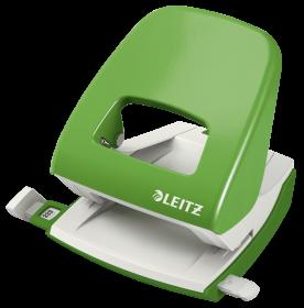 Dziurkacz biurowy Leitz New NeXXt, duży, do 30 kartek, jasnozielony