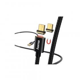 Kabel ładujący Hama, magnetyczny, 2 x microUSB, 1m, czarny