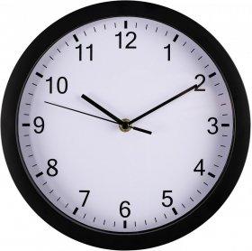 Zegar ścienny Hama PP-250, 25cm, tarcza kolor biały, obudowa kolor czarny