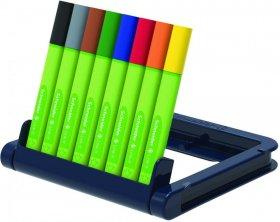 Cienkopis Schneider Link-It, 0.4mm, stojak - podstawka, 8 sztuk, mix kolorów
