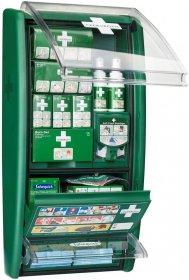 Apteczka ścienna Cederroth First Aid & Burn Station 51011003, z wyposażeniem, zielony