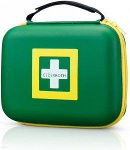 Apteczka przenośna Cederroth First Aid Kit, medium, z wyposażeniem, zielony