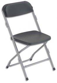 Krzesło składane Nowy Styl Polyfold K05, grafitowy
