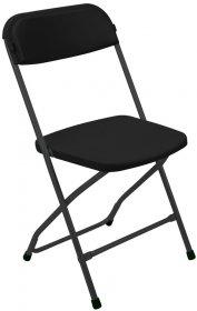 Krzesło składane Nowy Styl Polyfold K02, czarny