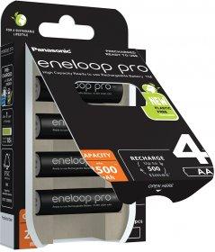 Akumulator Eneloop Pro, AA, 2500 mAh, 4 sztuki