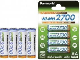 Akumulator Panasonic High Capacity, AA, 2700mAh, 4 sztuki