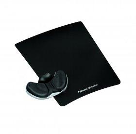 Podkładka pod mysz i nadgarstek Fellowes Palm Health-V Fabric, 230x19-35x280mm, czarny
