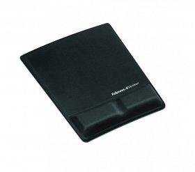 Podkładka pod mysz i nadgarstek Fellowes Health-V Fabric, 205x19x250mm , czarny